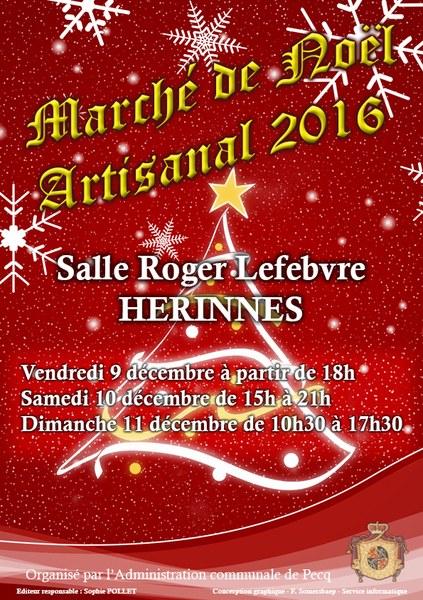Marché de Noël Artisanal 2016 et feu d\'artifice ! — Administration ...