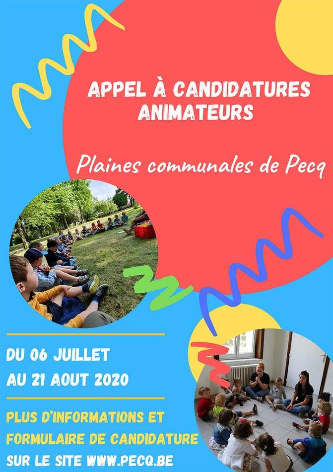 Affiche appel à candidatures Plaines communales Pecq 2020