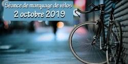 Marquage  des vélos